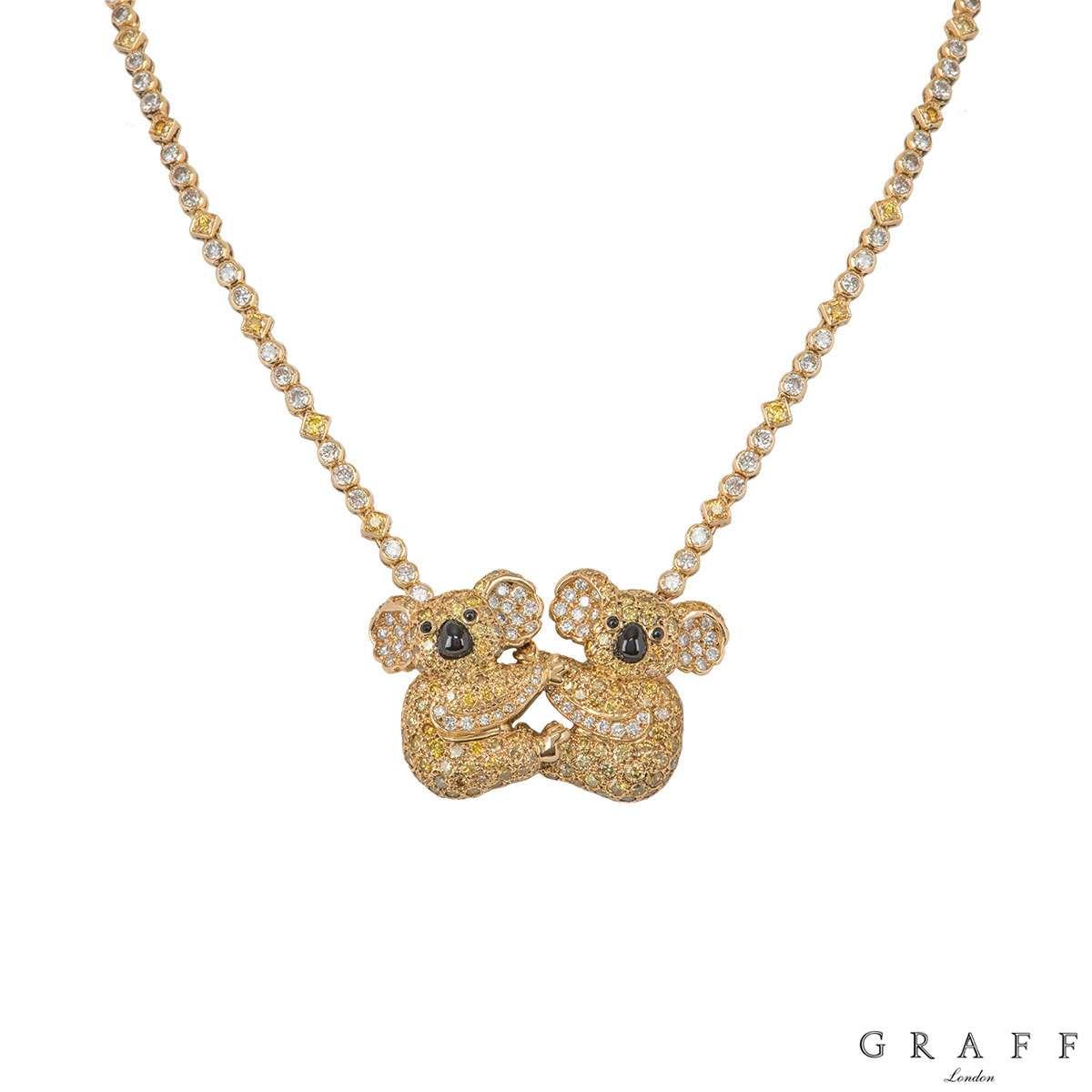 Graff Yellow Gold Diamond Koala Pendant